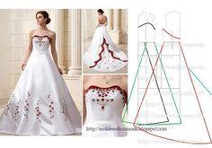 Ideas For Diy Wedding Dress Patterns Simple Evening Dress Patterns, Wedding Dress Patterns, Dress Sewing Patterns, Clothing Patterns, Evening Dresses, Fashion Sewing, Diy Fashion, Ideias Fashion, Diy Wedding Dress