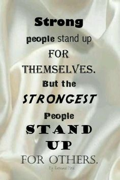 Cause sometimes people cant stand up for themselves!!!