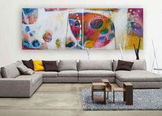 Grafik der abstrakten Malerei weiß gelb blau Rosa moderne