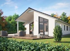 Bungalows, One Floor House Plans, Modern House Design, Beach House, Home Goods, Sweet Home, Shed, Backyard, Exterior