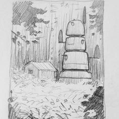Sketch by Simon Stålenhag Blog here: http://simonstalenhag.tumblr.com/