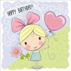 Find Cute Cartoon Girl Balloon Flower stock images in HD and millions of other royalty-free stock photos, illustrations and vectors in the Shutterstock collection. Thousands of new, high-quality pictures added every day. Happy Birthday Quotes, Happy Birthday Images, Happy Birthday Greetings, Birthday Messages, Birthday Pictures, Birthday Cartoon, 2nd Birthday, Cute Cartoon Girl, Happy B Day