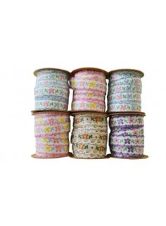 Ditsy Floral Vintage Ribbon @ rosefields.co.uk