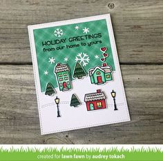 Hello and welcome to Lawn Fawn's October 2017 Inspiration Week! We are just so excited about this week! We are featuring 4 stamp sets, 7 stand alone die sets, our Perfectly Plaid Chill paper collectio