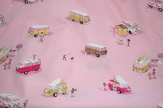 Heather Ross VW vans (pink)Fabric. I'm gonna have to find something to make :)
