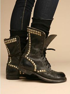 Studded Leather Boots.