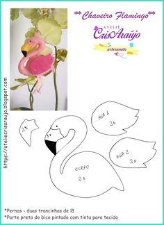 Molde chaveiro flamingo
