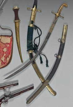 Ottoman kilij with a scimitar blade.