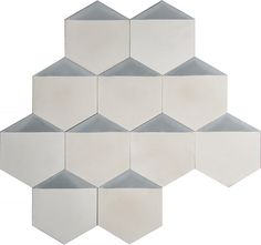 Hexagonal size: 20 x 23 cm. Sold in boxes of 12 tiles sqm). Contemporary Tile, Hexagon Pattern, Tile Patterns, White Light, Runes, Decorative Boxes, Milk, Flooring, House Styles