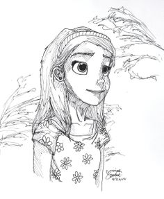 Just doodling during a break. Artist: Moriah Q. Age 13. >>>> Oh my gosh! Just doodling?! This would take me days!