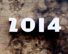 Vintage White Ceramic Numbers 2014 Push от shavingkitsuppplies