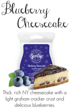 Wickless candles and scented fragrance wax for electric candle warmers and scented natural oils and diffusers. Shop for Scentsy Products Now! Blueberry Pancakes, Blueberry Cheesecake, Cheesecake Bars, Graham Cracker Crust, Graham Crackers, Wax Melts, Delish, Food, Scentsy Bar