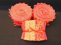 Tangerine Orange Jelly Roll  - Quilt Fabric Strips - SEW FUN QUILTS Time Saver Quilt Kit. $18.85, via Etsy.