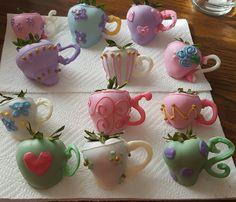 Teacup choc dipped strawberries