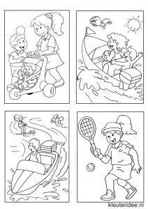 Kleine kleurplaatjes 17 voor meisjes, kleuteridee.nl , deze kleurplaatjes maken kleuters echt af ;), free printable.
