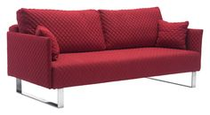 Zuo Modern 100211 Pax Sleeper Quilted Red