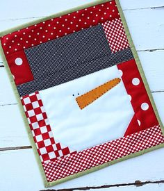 Snowman Mini Quilt by sweetwater3   Quilting Pattern - Looking for your next project? You're going to love Snowman Mini Quilt by designer sweetwater3. - via @Craftsy