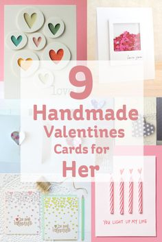 Handmade Valentines Cards for Her #Valentines
