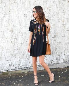 Be vacation ready in this embroidered boho gem! Our La Habana Embroidered Dress is picture perfect in black with half sleeves with a shift style fit! Stylish Outfits, Fashion Outfits, Stylish Clothes, Simply Fashion, Dress Me Up, Spring Summer Fashion, Amazing Women, What To Wear, Casual Dresses