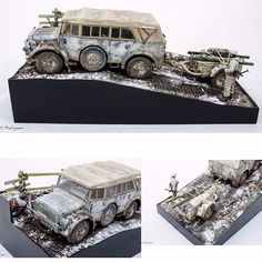 Horch 4x4 Type 1a Sd.Ah51 By/From: Pelczar Modelling Workbench #diorama #dio…