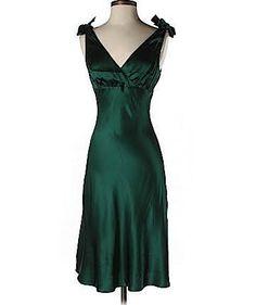 green silk dress - Google Search