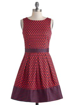 In the Pattern Mix Dress in Dots, #ModCloth