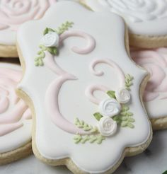 @shopthewhisk...monogram cookies