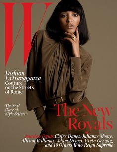 Jourdan Dunn on the cover of W Magazine's October 2015 issue.