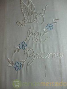 Toalhas de Batismo Bordadas e Personalizadas com o nome em Setubal Maria Jose, Cross Stitch, Scrapbook, Embroidery, Knitting, Sewing, Crochet, Google, Image