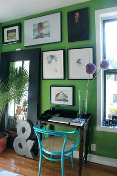 Color Inspiration - Home Decorating Ideas Blog - Kelly Green Color