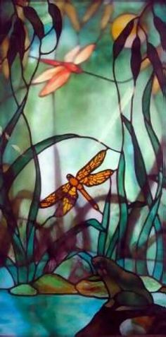 Stained Glass Dragon Fly