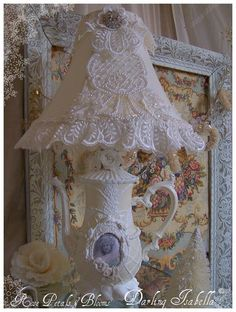 Created with Clay and antique lace