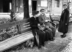 Berlin 1938. Park bench.