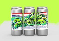 Graffiti-themed brewery beer packaging labels based on sticker street art (or slaps). Designed by Chargefield. Beer Packaging, Brand Packaging, Sticker Street Art, Spray Paint Cans, Graffiti Designs, Beer Brands, Keys Art, Beer Label, Brewing Co