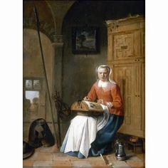 Dentellière. La Encajera. Pieter JACOBSZ (holandes 1599 - 1678)