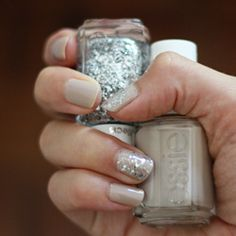 YES I HAVE THESE!. Add a little bit of bling to your neutral nails for a big, sparkly impact.