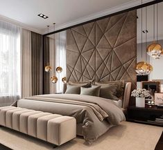 Luxury bedroom design ideas to inspire you 35 Modern Luxury Bedroom, Master Bedroom Interior, Luxury Bedroom Design, Master Bedroom Design, Luxury Interior Design, Contemporary Bedroom, Luxurious Bedrooms, Home Decor Bedroom, Bedroom Lamps