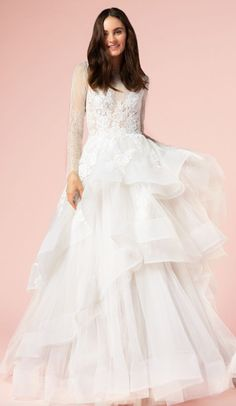 Featured Wedding Dress: Bliss by Monique Lhuillier; Wedding dress idea.