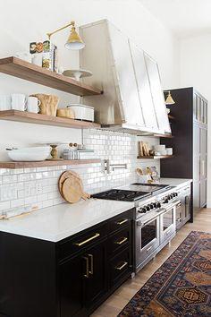 Paint It Black - 28 Cool Kitchen Cabinet Colors  - Photos