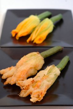 Persian Fetta and Caper Stuffed Zucchini Flowers Recipe by Paul Hegeman