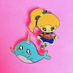 """#Repost @heremeow New pins in the shop. Link in Bio. Rainbow Brite and Kawaii Narwhal are here and I'm so happy how they turned out. Both are hard enamel 1.5"""". Ships today worldwide. Both under $10. #pingamestrong #pincollecting #pingame #pinstagram #pins #pinmakerssupergroup #rainbowbrite #pinsforsale #enamelpin #enamelpins #lapelpin #stockingstuffers #flair #pinsofig #pinoftheday #rainbowbrite #kawaii #narwhal #cute #cutegift (Posted by https://bbllowwnn.com/) Tap the photo for purchase…"""