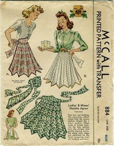 Amazon.com: McCall 884 Sewing Pattern Accordion Effect Necktie Apron: Arts, Crafts & Sewing