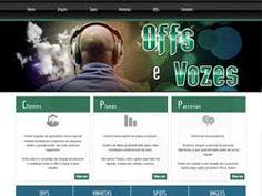 Site desenvolvido para o Estúdio Offs e Vozes da produtora Desert Studio.