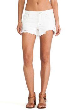 FREE PEOPLE NWT Women's Polar White Sharkbite Ripped Cut Off Moto Jean Shorts #FreePeople #CasualShorts