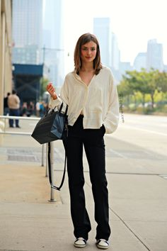 MODELS JAM: Andreea Diaconu after Ralph Lauren show, New York, September 2013