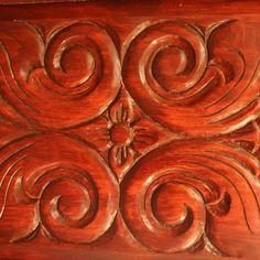 Woodcarving flower and scroll