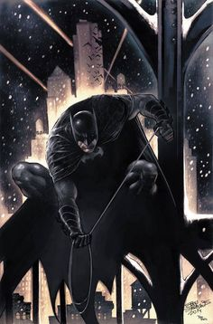Batman by Eddy Barrows, colours by Rod Reis *