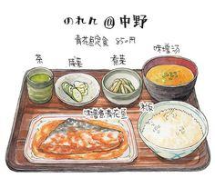 """Résultat de recherche d'images pour """"doodle japanese art food"""""""