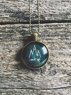 For the hiker, climber, backpacker, camper, this mountain peak pendant is the perfect gift! Remind yourself or someone special to keep climbing to