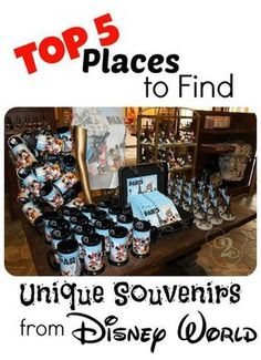Top 5 places to find unique souvenirs at Walt Disney World. #travelideas #familyvacation